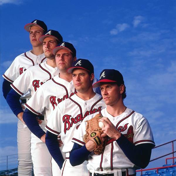 John Smoltz Art Print featuring the photograph Atlanta Braves by Ronald C. Modra/sports Imagery
