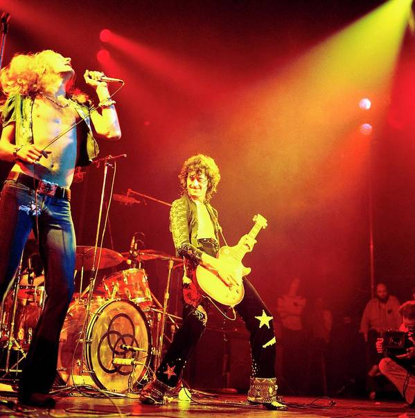 Led Zeppelin Art Print featuring the photograph Photo Of Jimmy Page And Led Zeppelin by David Redfern
