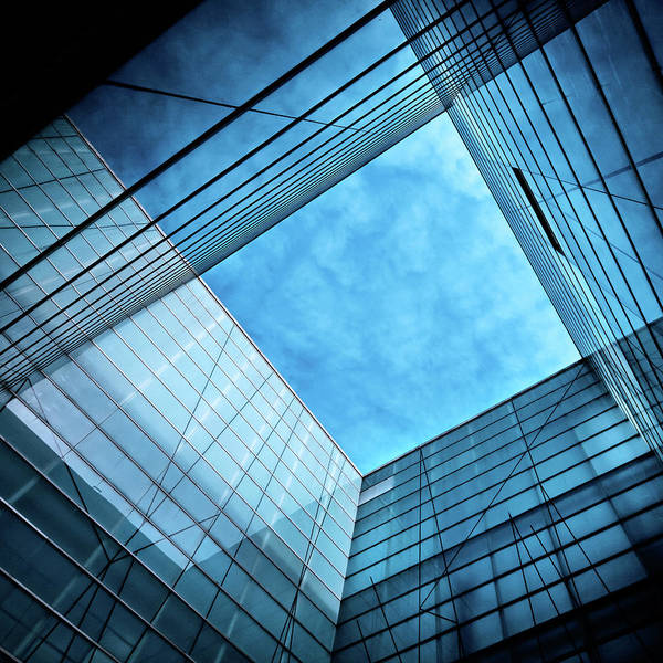 Office Art Print featuring the photograph Modern Glass Architecture by Nikada