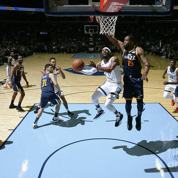 Nba Pro Basketball Art Print featuring the photograph Utah Jazz V Memphis Grizzlies by Joe Murphy