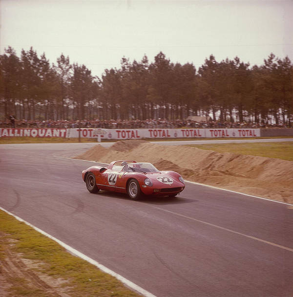 People Art Print featuring the photograph A Ferrari 250 P At Le Mans, France by Heritage Images