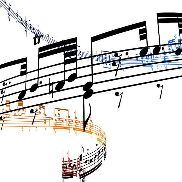 Sheet Music Art Print featuring the digital art A Stave Of Music by Ian Mckinnell