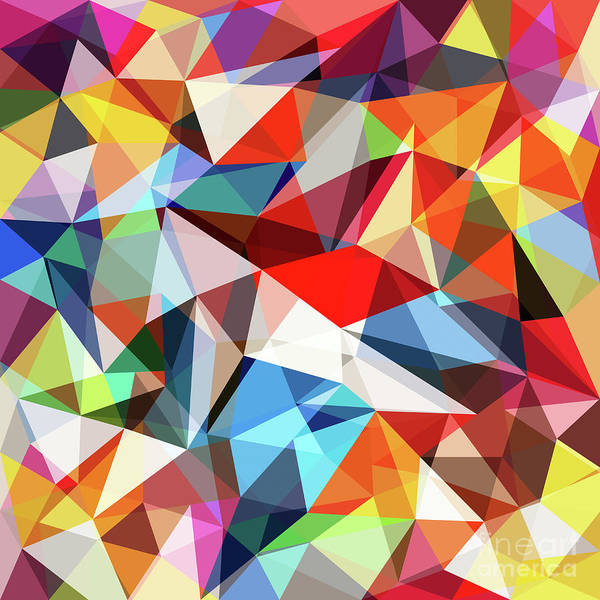 Art Art Print featuring the digital art Abstract Colorful Geometrical Background by Natrot