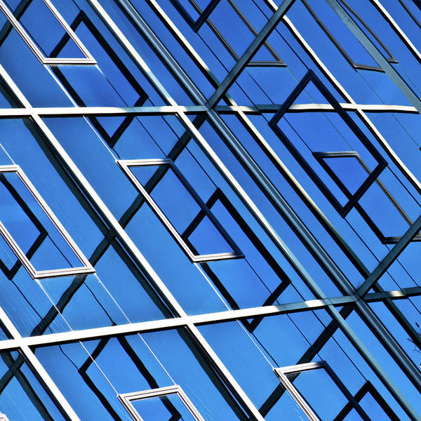 Outdoors Art Print featuring the photograph Abstract Geometric Reflection by By Fabrice Geslin