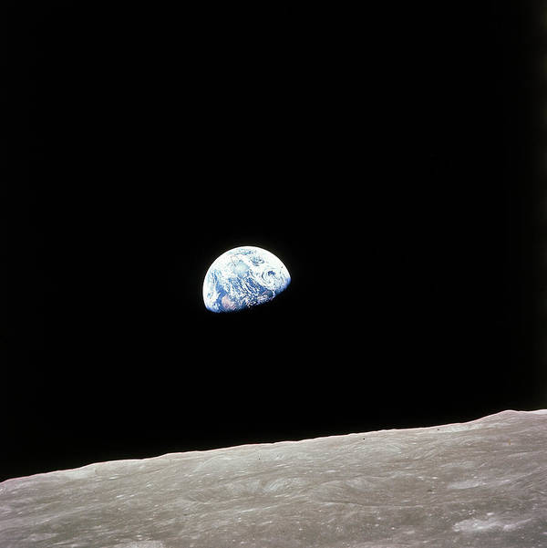 Timeincown Art Print featuring the photograph Apollo 8 View Of Earth Rise Over The Moo by Time Life Pictures