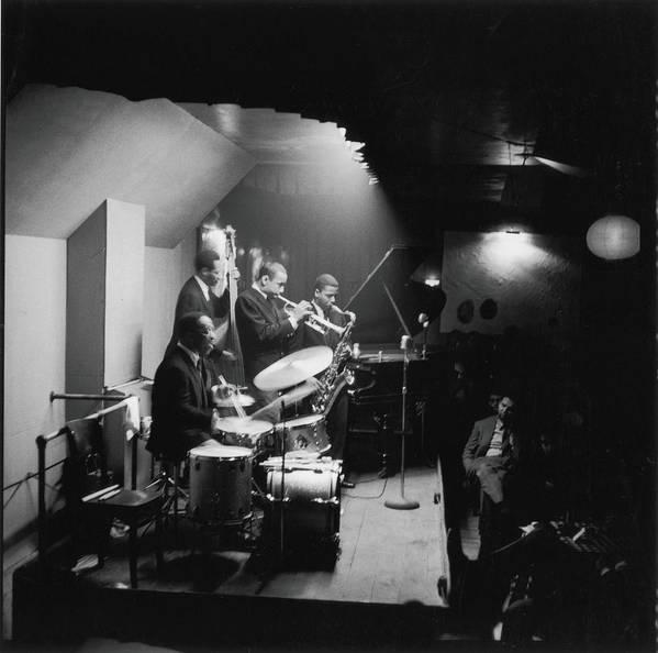Shadow Art Print featuring the photograph Art Blakeys Jazz Messengers Perform On by Fred W. McDarrah