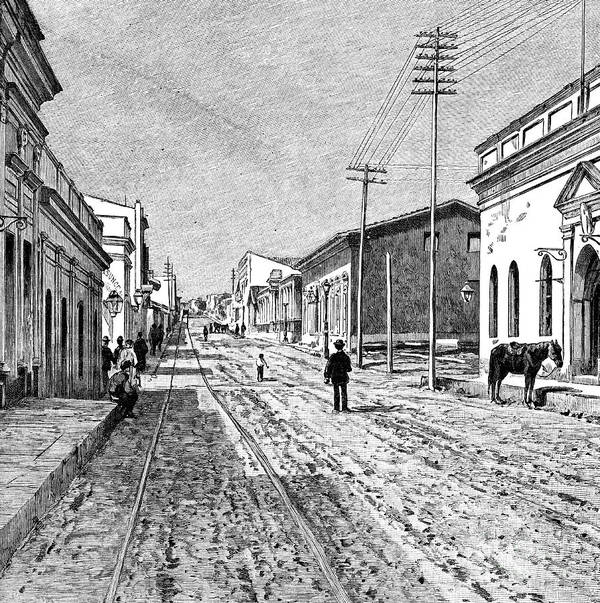 Engraving Art Print featuring the drawing Asuncion, Paraguay, 1895 by Print Collector