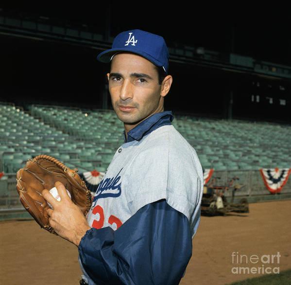 Sandy Koufax Art Print featuring the photograph Baseball Player Sandy Koufax by Bettmann