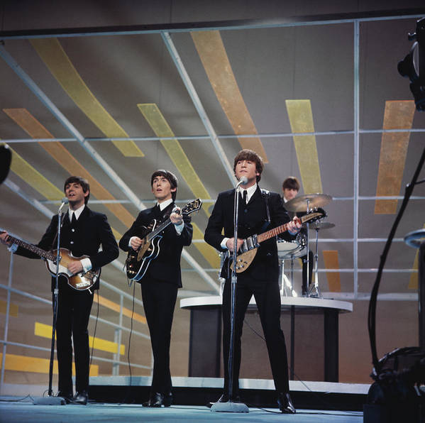Singer Art Print featuring the photograph Beatles On Us Tv by Paul Popper/popperfoto