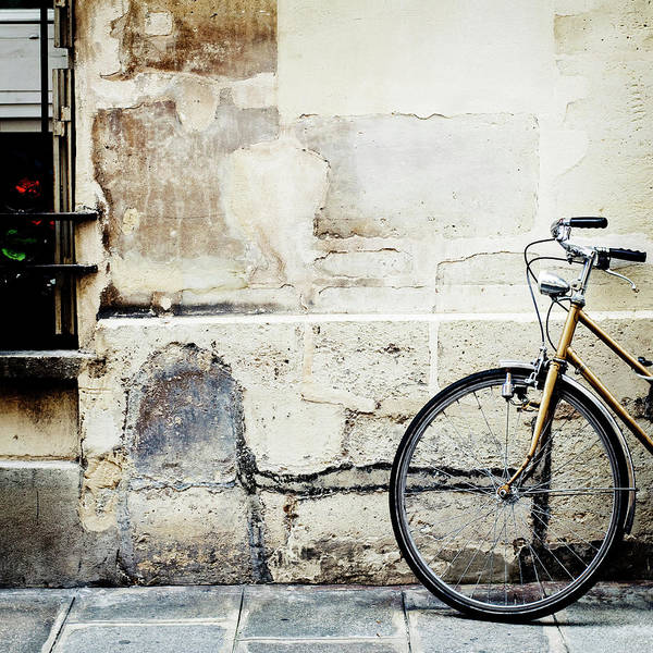 Tranquility Art Print featuring the photograph Bicycle, Ile St Louis, Paris by Image - Natasha Maiolo