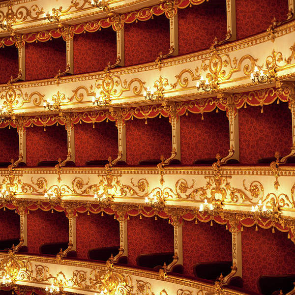 Event Art Print featuring the photograph Boxes Of Italian Antique Theater by Naphtalina