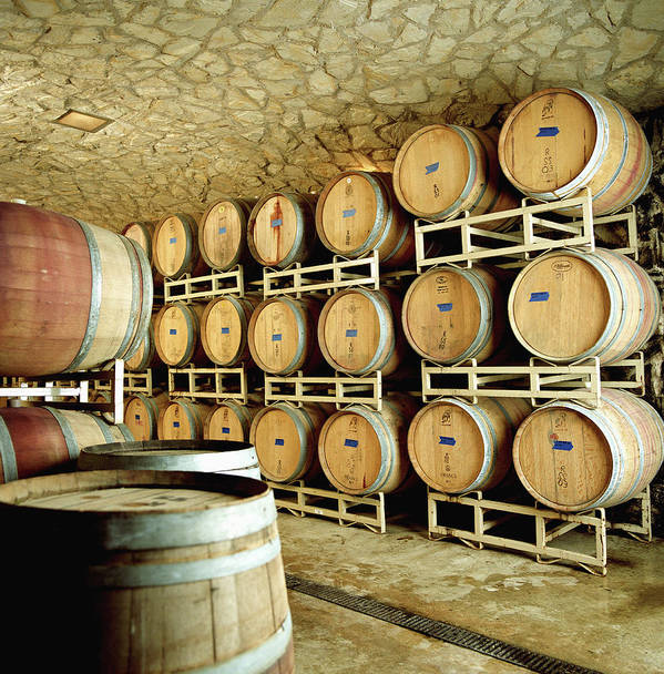 Aging Process Art Print featuring the photograph Cellar In Winery by Siri Stafford