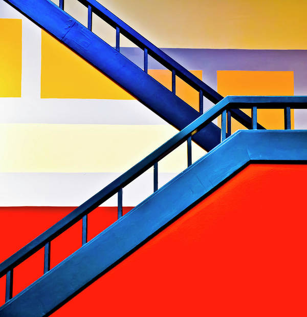 In A Row Art Print featuring the photograph Colorful Climb by By Wesbs