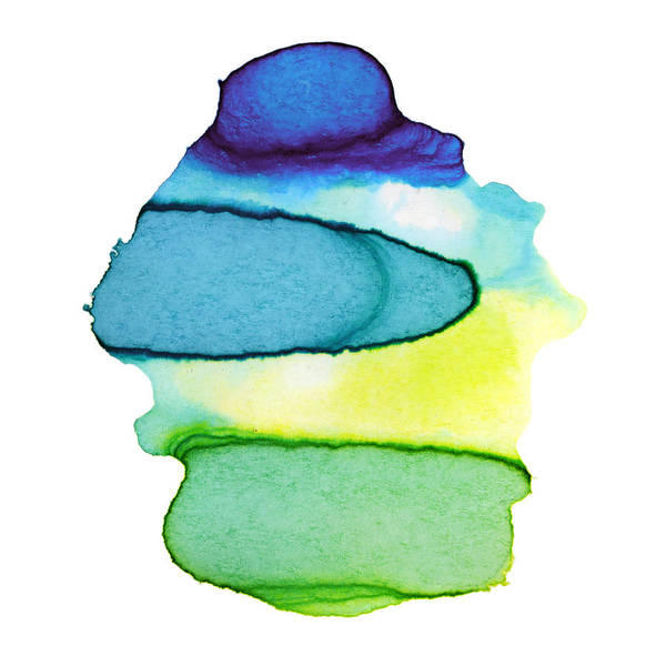 Watercolor Painting Art Print featuring the digital art Colorful Watercolor Paint Paper Texture by 4khz