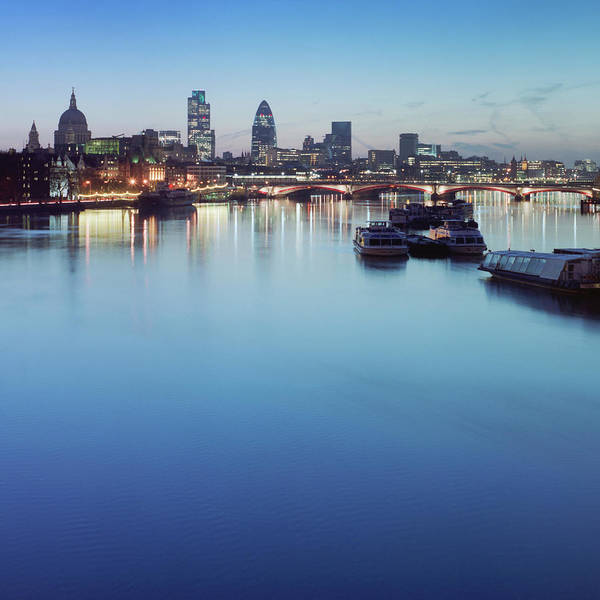 Blackfriars Bridge Art Print featuring the photograph Dawn On The Thames Xxl by Beholdingeye