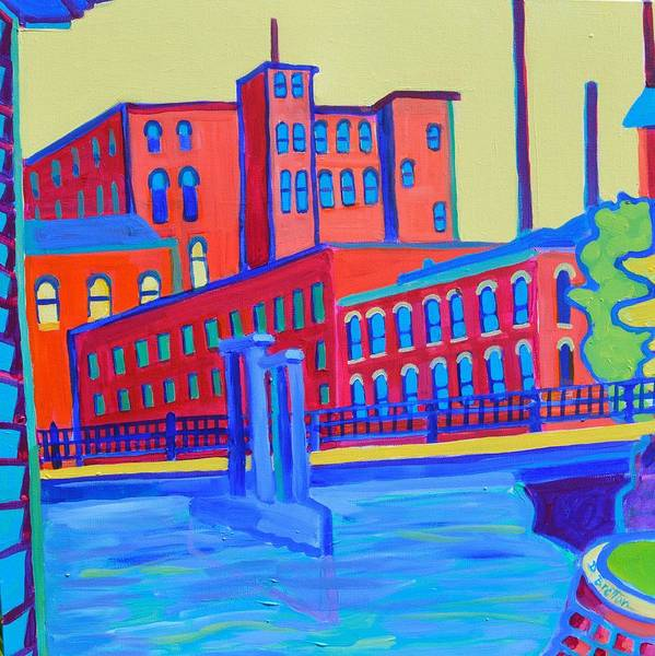City Art Print featuring the painting Days in the Waterways by Debra Bretton Robinson