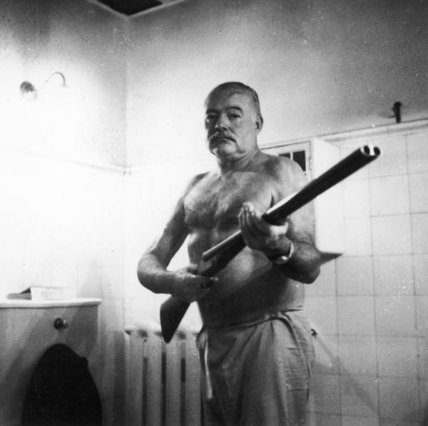 Ernest Hemingway Art Print featuring the photograph Ernest Hemingway by Fotosearch