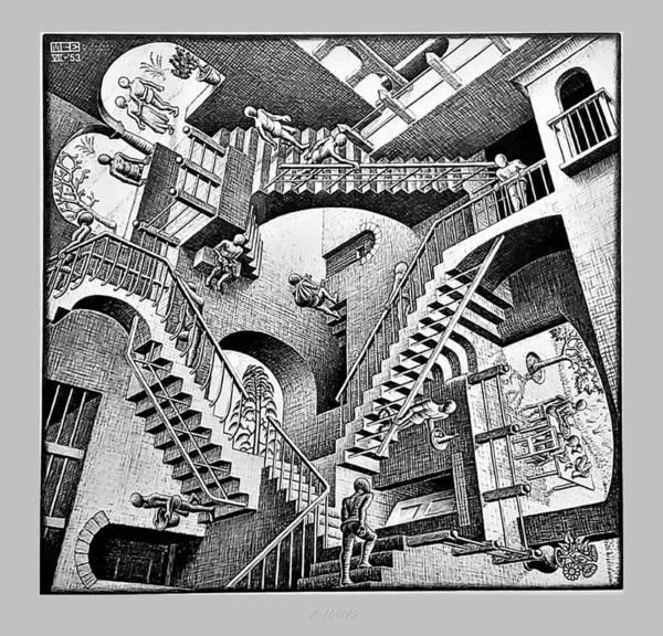Maurits Cornelis Escher Art Print featuring the photograph Escher 131 by Rob Hans