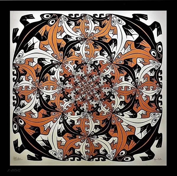 Maurits Cornelis Escher Art Print featuring the photograph Escher 65 by Rob Hans