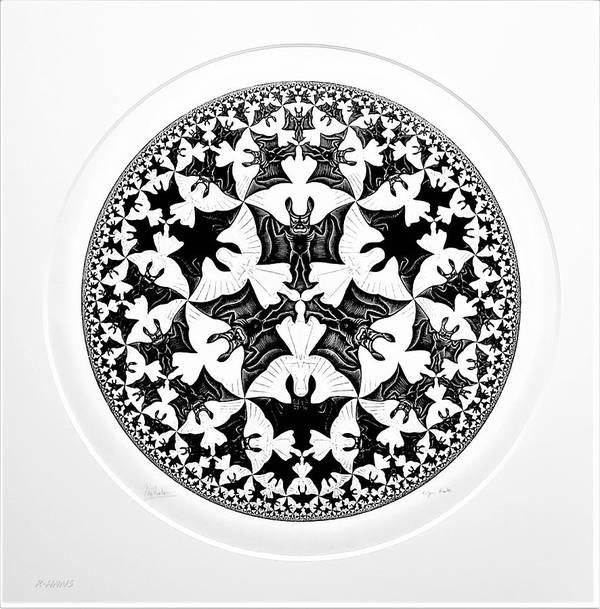 Maurits Cornelis Escher Art Print featuring the photograph Escher 66 by Rob Hans