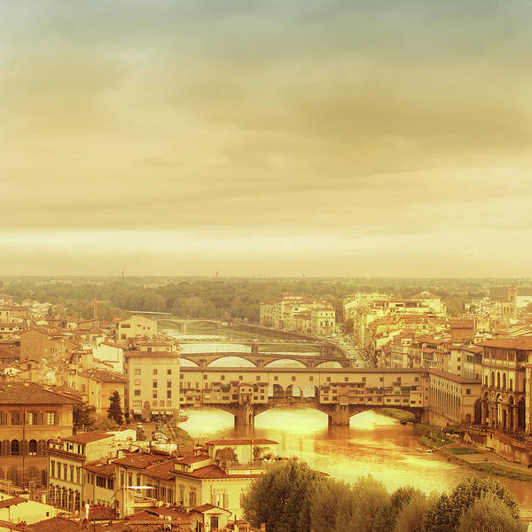 Palazzo Vecchio Art Print featuring the photograph Florence, Ponte Vecchio by Deimagine