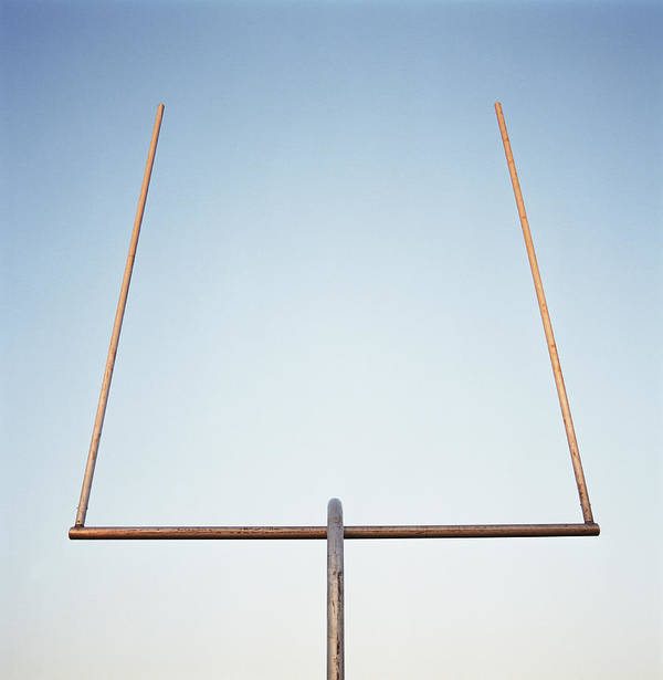 Goal Art Print featuring the photograph Football Goal Post by Mike Powell