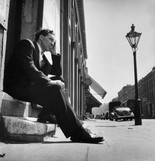 People Art Print featuring the photograph Former Boxer by Bert Hardy
