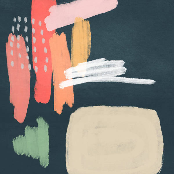 Modern Art Print featuring the mixed media Fragments 2- Art by Linda Woods by Linda Woods