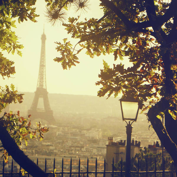 Eiffel Tower Art Print featuring the photograph French Romance by By Smaranda Madalina Cheregi
