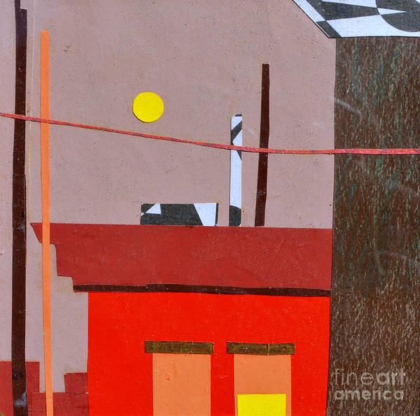 City Art Print featuring the mixed media Hazy Rooftops 2 by Debra Bretton Robinson