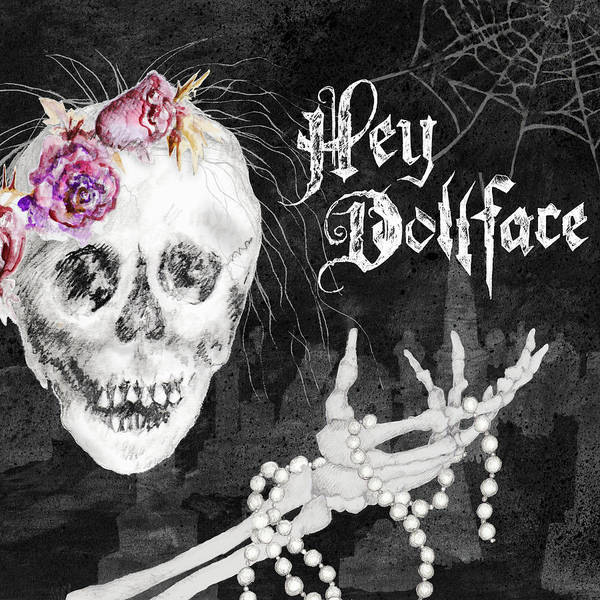 Halloween Art Print featuring the mixed media Hello Dollface by Janice Gaynor