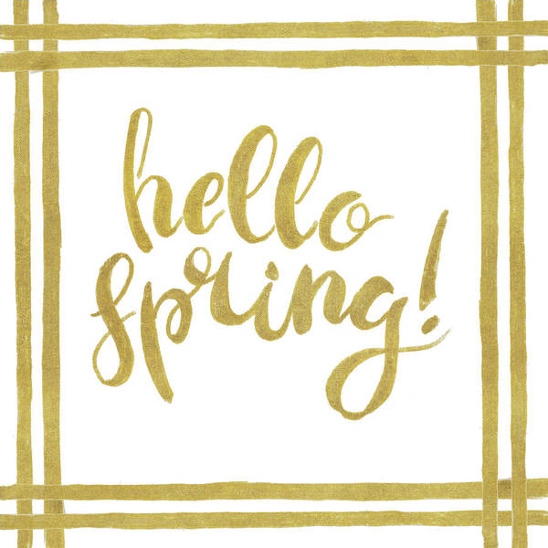 Hello Art Print featuring the mixed media Hello Spring by Patricia Pinto