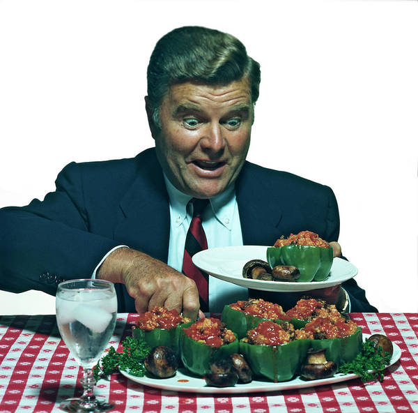 Stuffed Art Print featuring the photograph His Favorite Meal by Tom Kelley Archive