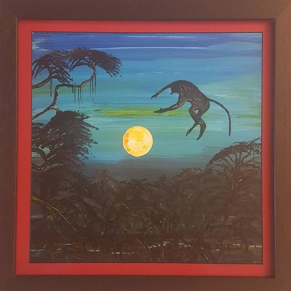 Moonlight Baboon Art Print featuring the photograph Moonlight Baboon by Quintus Curtius