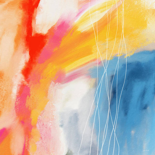 Abstract Art Print featuring the mixed media Morning 2- Art by Linda Woods by Linda Woods