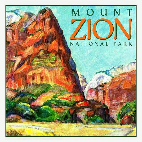 Art Art Print featuring the drawing Mount Zion National Park by Unknown