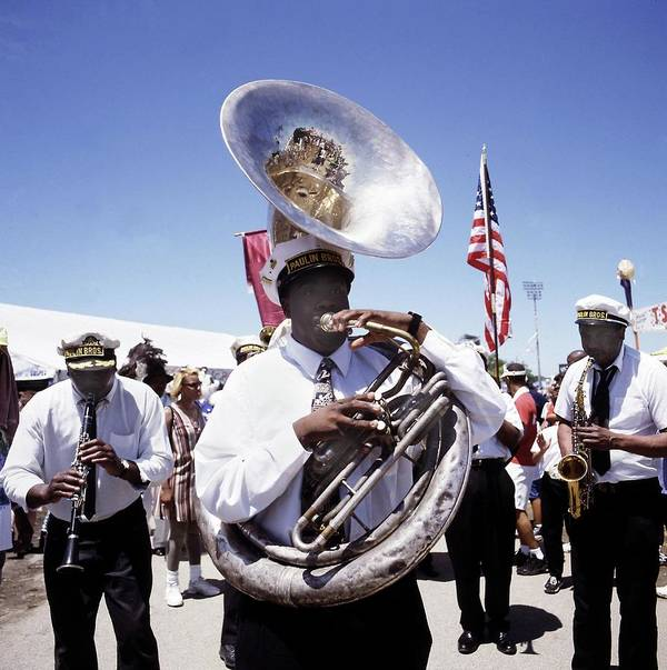 Music Art Print featuring the photograph New Orleans Marching Band by David Redfern