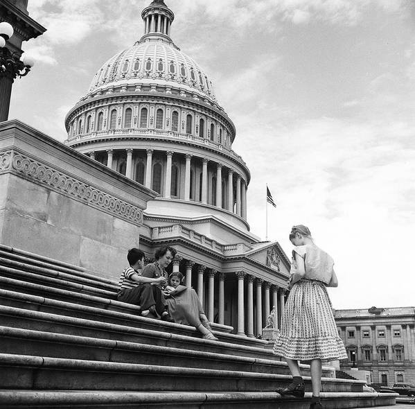 Sibling Art Print featuring the photograph Outside The Capitol by Rae Russel
