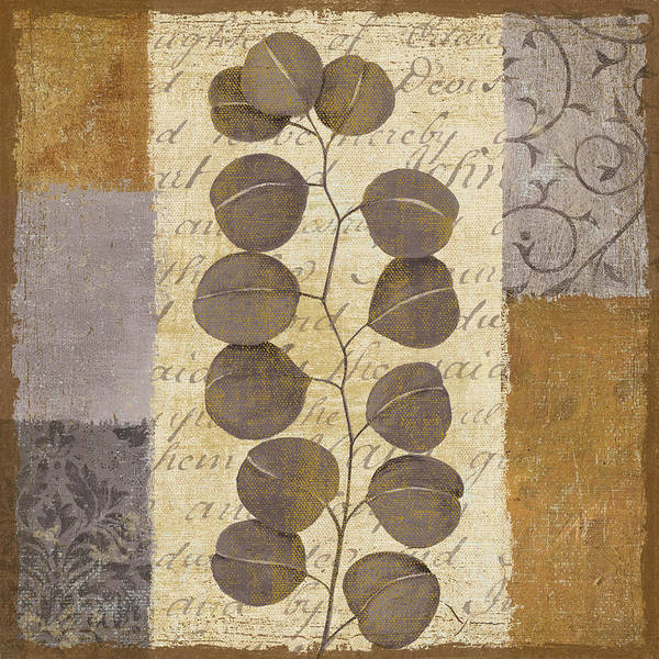 Leaves Art Print featuring the painting Parchment I by Yuna