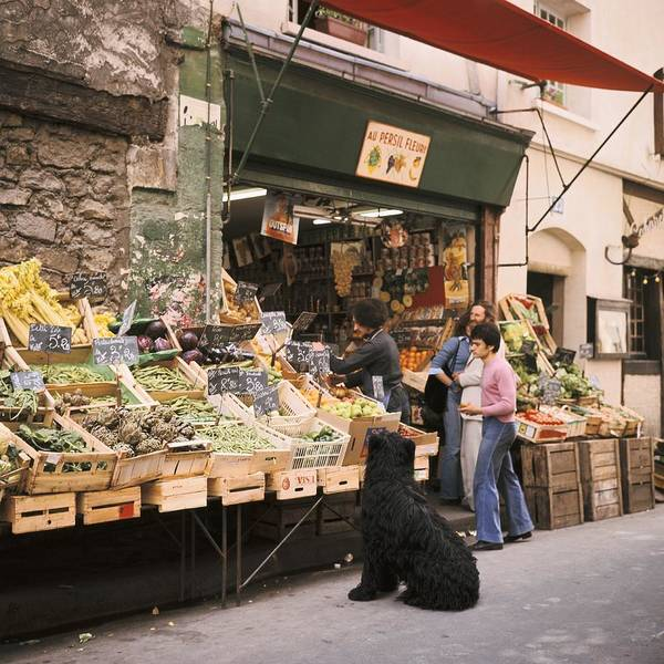 Paris Art Print featuring the photograph Paris, Fruit And Vegetable Shop In The by Keystone-france