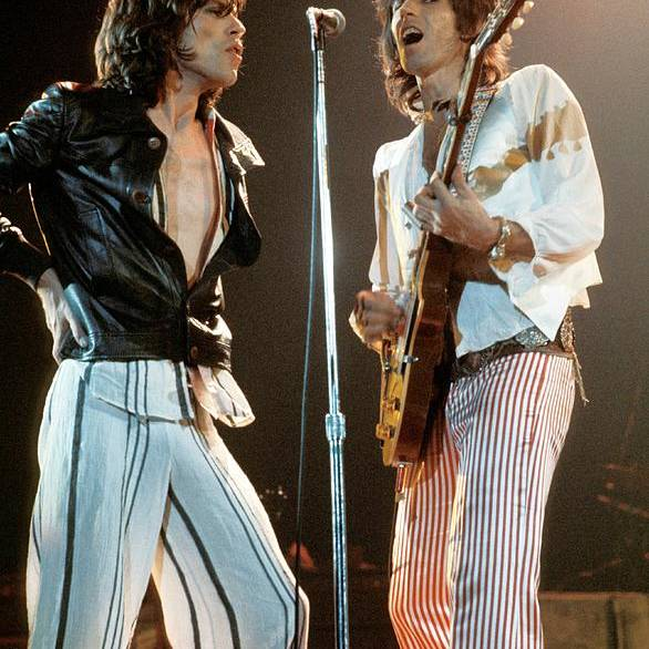 Music Art Print featuring the photograph Photo Of Keith Richards And Mick Jagger by Fin Costello