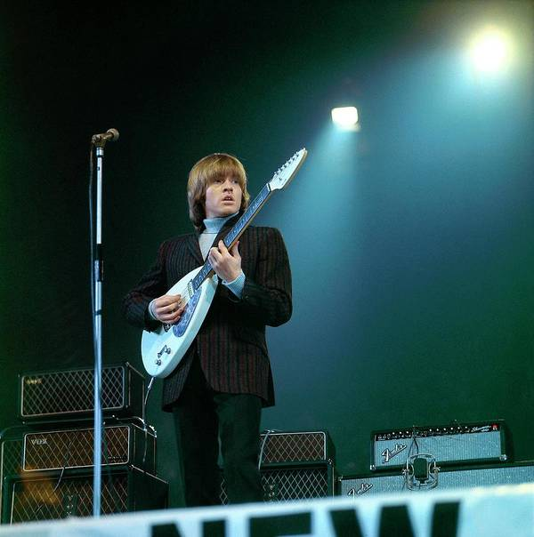 Guitarist Art Print featuring the photograph Photo Of Vox Guitars And Brian Jones by David Redfern