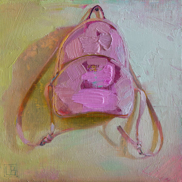 Pink Bag Art Print featuring the painting Pink Bag by Lucas Bononi