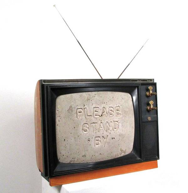 Czappa Art Print featuring the sculpture Please Stand by by Bill Czappa