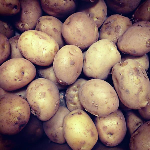 Heap Art Print featuring the photograph Potatoes by Digipub