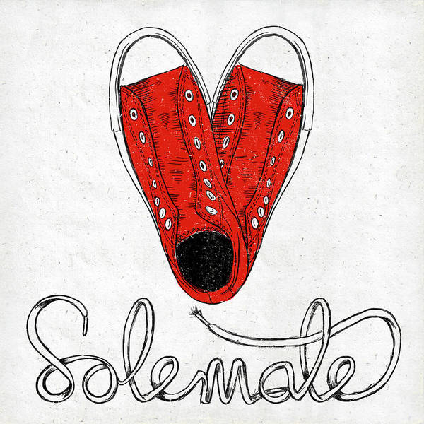 Sole Art Print featuring the painting Sole Mate by Sd Graphics Studio