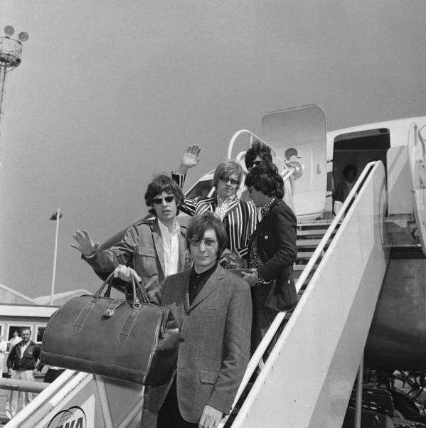 Rock Music Art Print featuring the photograph Stones Off To America by Ted West