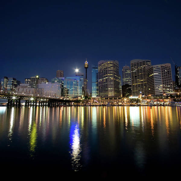 Scenics Art Print featuring the photograph Sydney Darling Harbour Twilight by Matejay