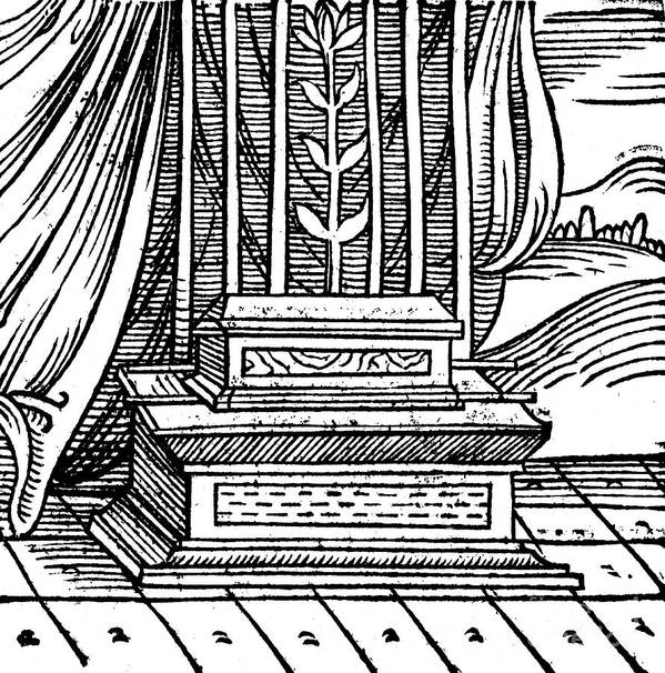 Concepts & Topics Art Print featuring the drawing The Ark Of The Covenant, 1557 by Print Collector