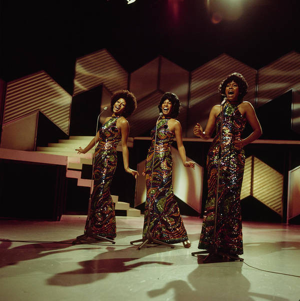 Singer Art Print featuring the photograph The Supremes Perfom On Tv Show by Tony Russell